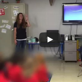 Houston Swim Club delivers important water safety tips to a local classroom.