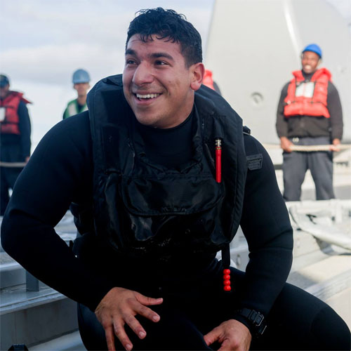 HSC Student/Teacher Becomes US Navy Rescue Swimmer