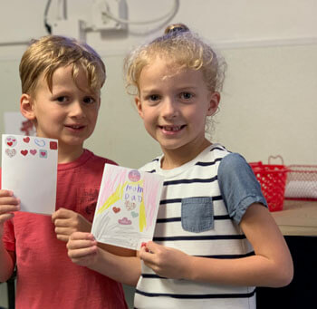 Our students have been making Valentine's Day cards all week long!