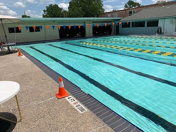 It's summer! The outdoor pool at our Sharpstown location is open.