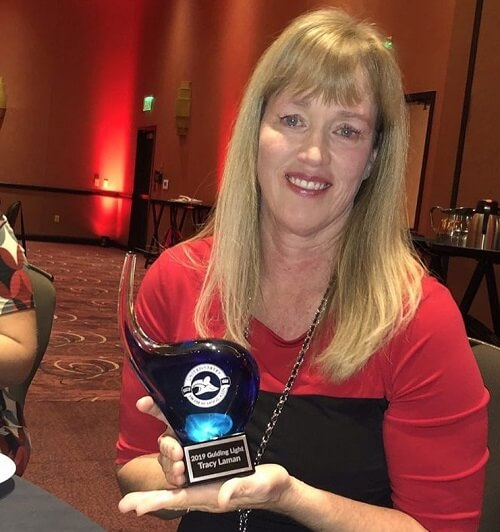 Ms. Tracy was awarded the Guiding Light Award at the 2019 United States Swim School Association Fall Conference.